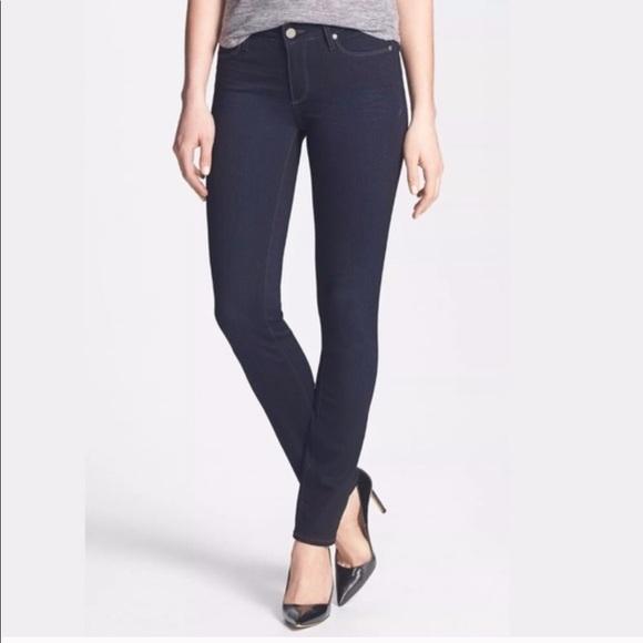 PAIGE Denim - PAIGE   Skyline Skinny Dark Wash Jeans Size 28